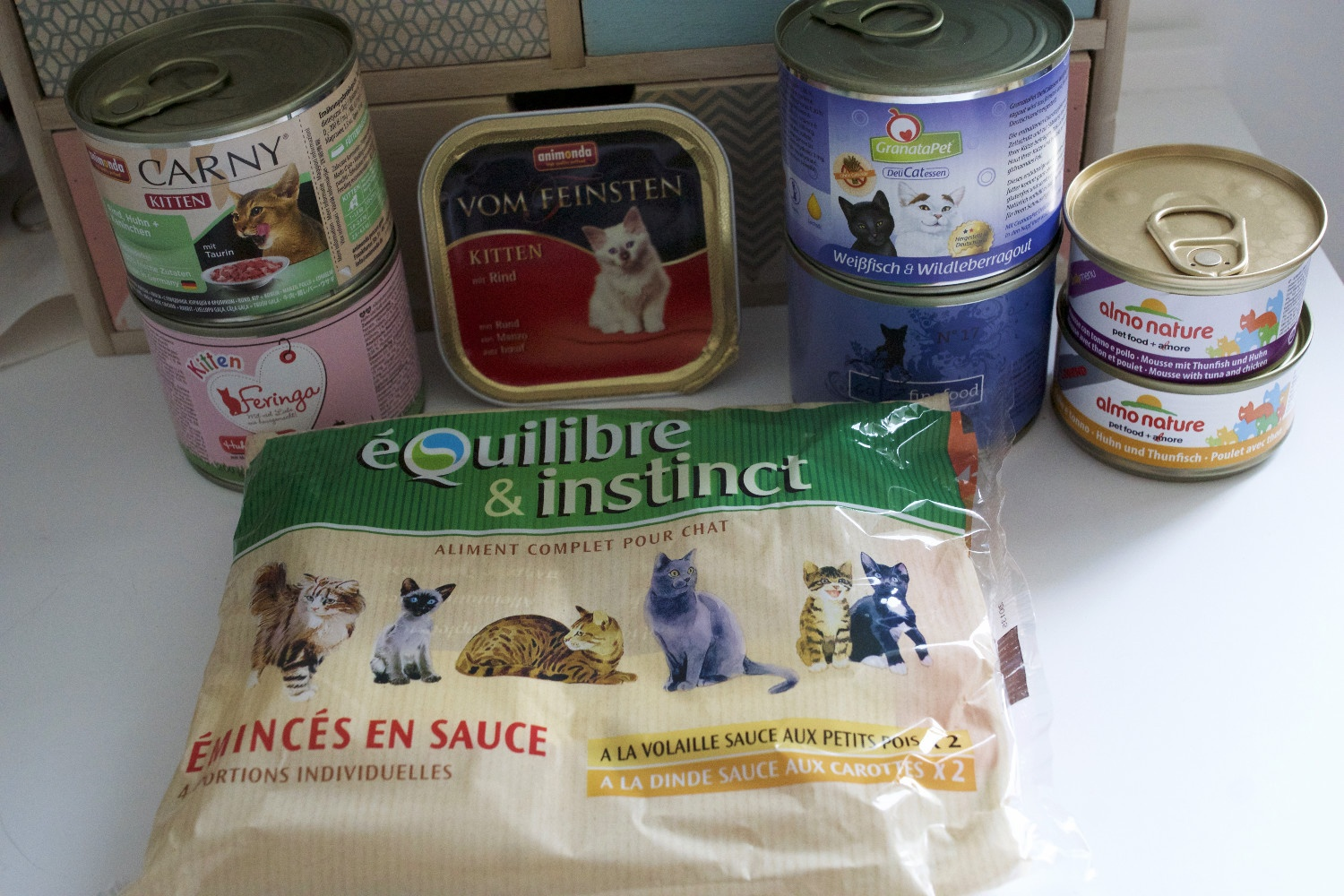 Nourriture humide pour chats